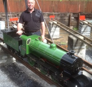 Steaming up ready to test brakes