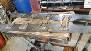 Horn blocks being fitted to the frames